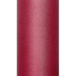 Decorative Tulle 15 cm x 9 m 082 Deep Red
