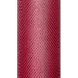 Tiul dekoracyjny 15 cm - bordowy, 9 m