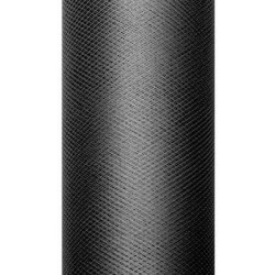Decorative Tulle 15 cm x 9 m 010 Black