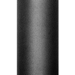 Tiul dekoracyjny 15 cm - czarny, 9 m
