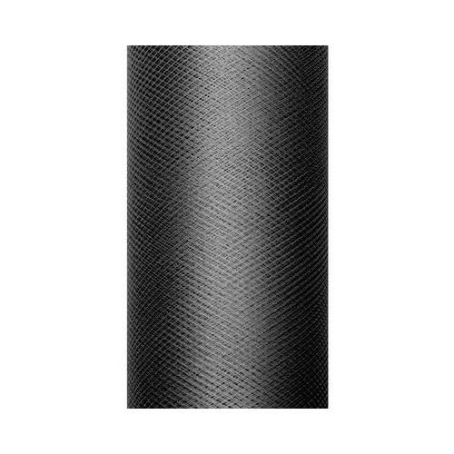 Tiul dekoracyjny 15 cm x 9 m 010 czarny