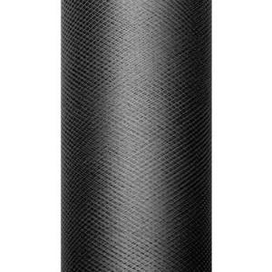 Tiul dekoracyjny 15 cm x 9 m czarny 010