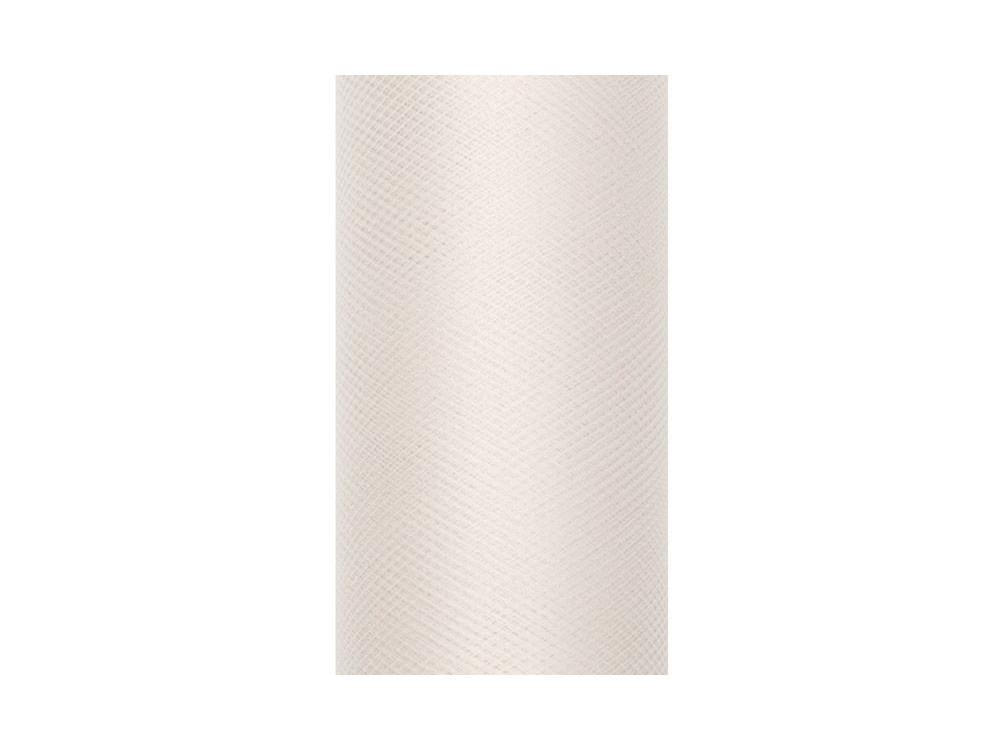 Tiul dekoracyjny 30 cm - kremowy, 9 m