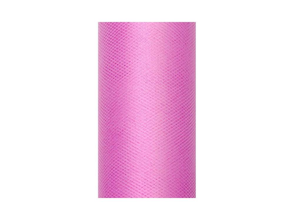 Tiul dekoracyjny 30 cm - różowy, 9 m