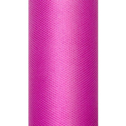 Tiul dekoracyjny 30 cm - fuksjowy, 9 m