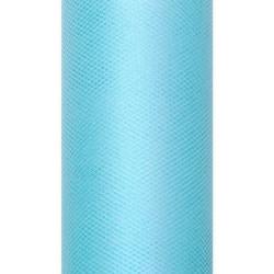 Tiul dekoracyjny 30 cm - turkusowy, 9 m