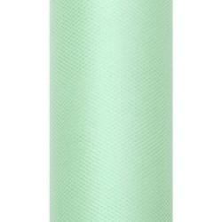 Tiul dekoracyjny 30 cm - miętowy, 9 m