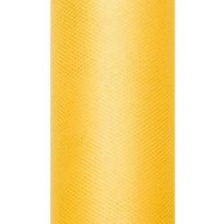 Tiul dekoracyjny 30 cm - żółty, 9 m