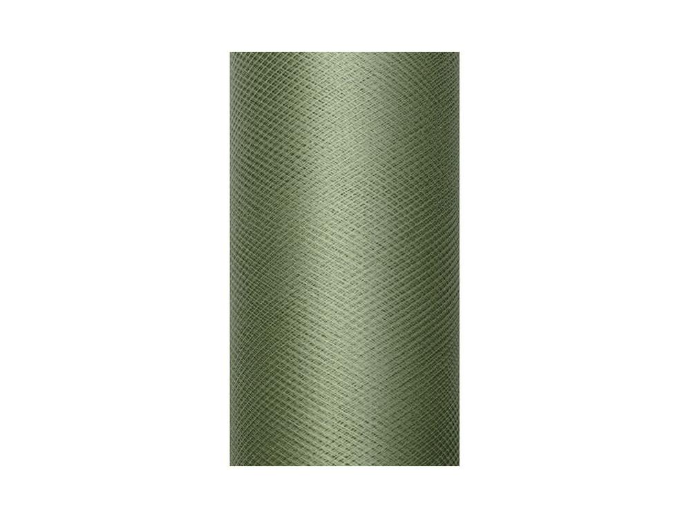 Tiul dekoracyjny 30 cm - zielony, 9 m