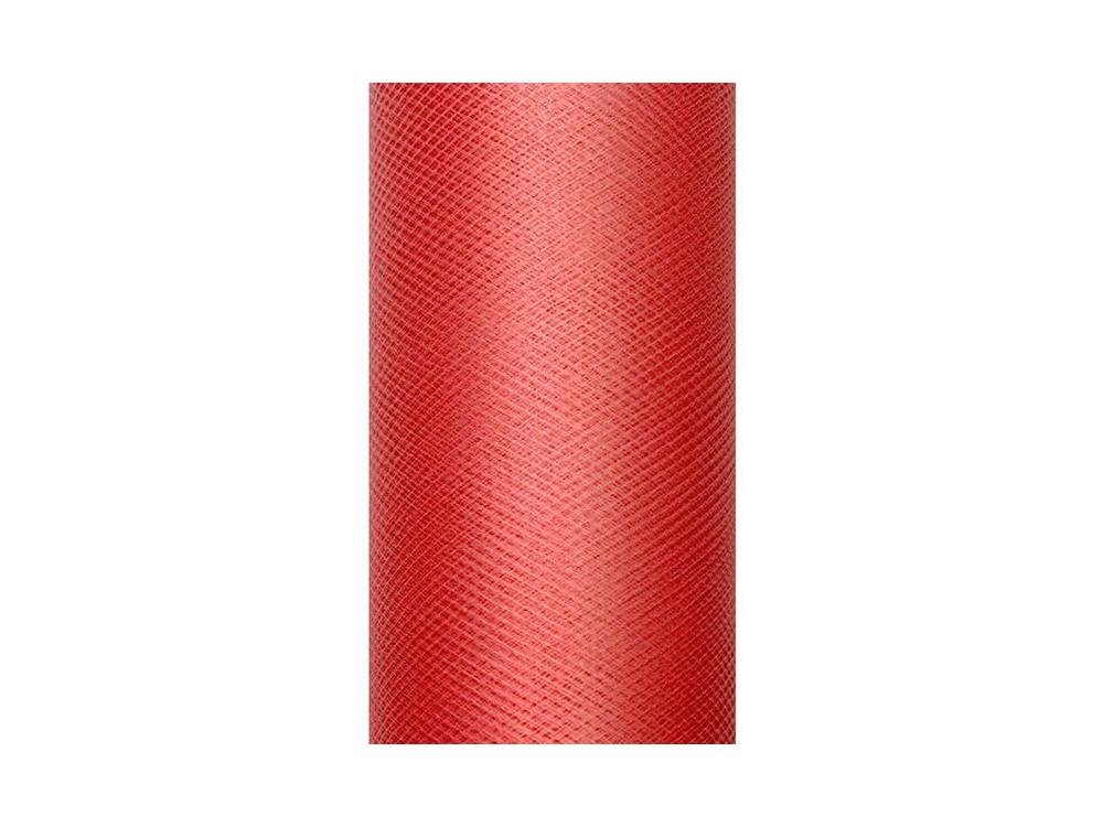 Tiul dekoracyjny 30 cm - czerwony, 9 m