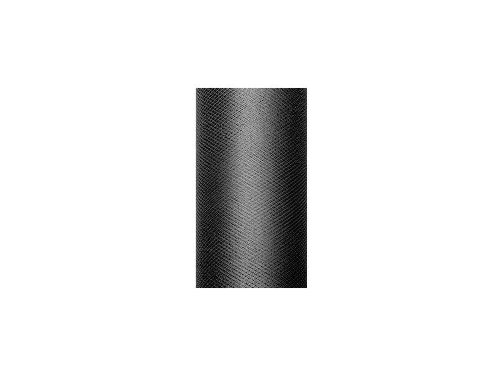 Tiul dekoracyjny 30 cm - czarny, 9 m