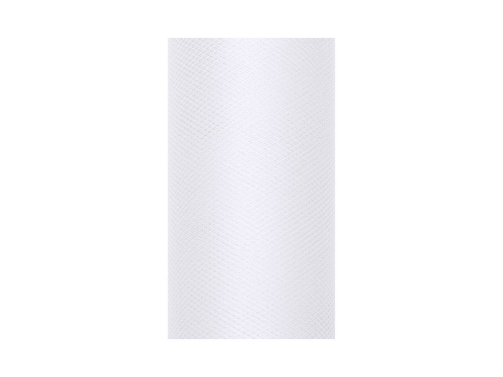 Tiul dekoracyjny 50 cm - biały, 9 m