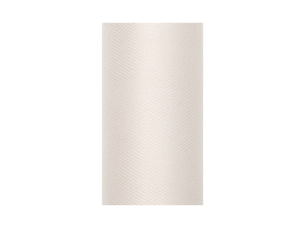 Tiul dekoracyjny 50 cm - kremowy, 9 m