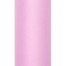 Tiul dekoracyjny 50 cm - jasnoróżowy, 9 m