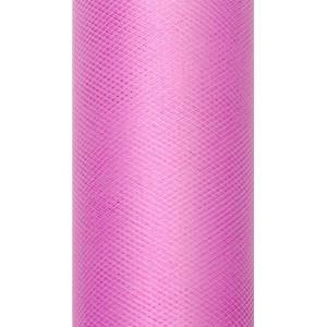 Tiul dekoracyjny 50 cm x 9 m różowy 006