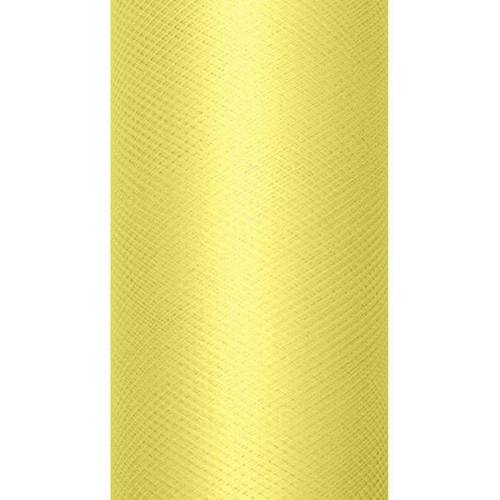 68c95896 Tiul dekoracyjny 50 cm - jasnożółty, 9 m