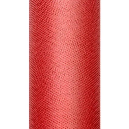 eff8eeed Tiul dekoracyjny 50 cm - czerwony, 9 m