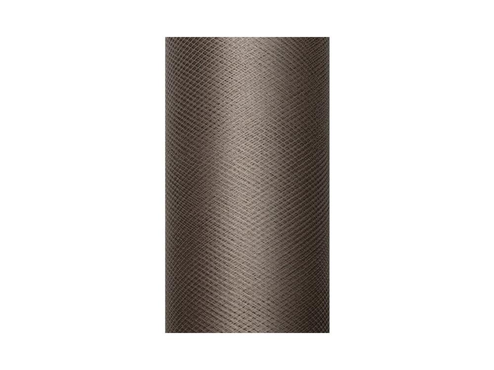 Tiul dekoracyjny 50 cm - brązowy, 9 m
