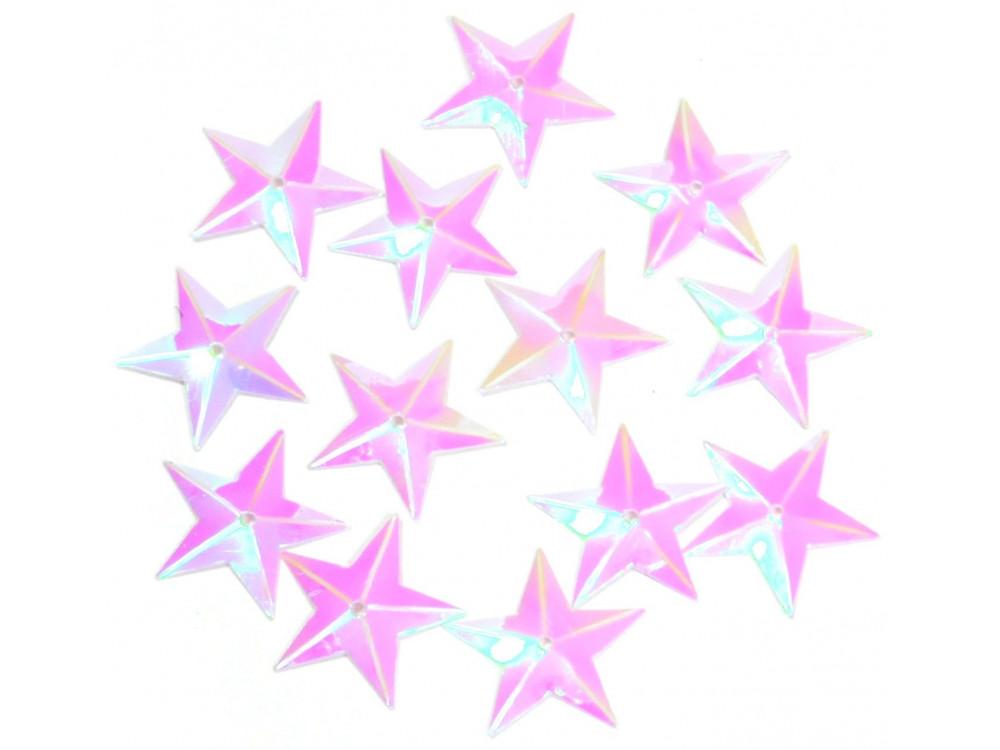 Konfetti gwiazdki - holograficzne, 16 mm, 18 g