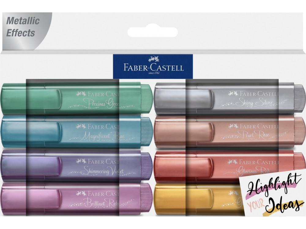 Zestaw zakreślaczy metalicznych - Faber-Castell - 8 kolorów