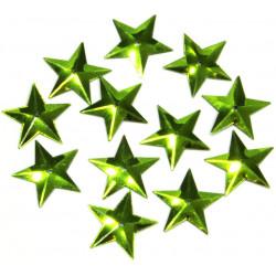 Konfetti gwiazdki - zielone, 16 mm, 18 g