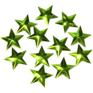 Konfetti gwiazdki zielone 16 mm 18 g