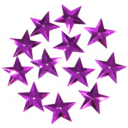 Konfetti gwiazdki - fioletowe, 16 mm, 18 g