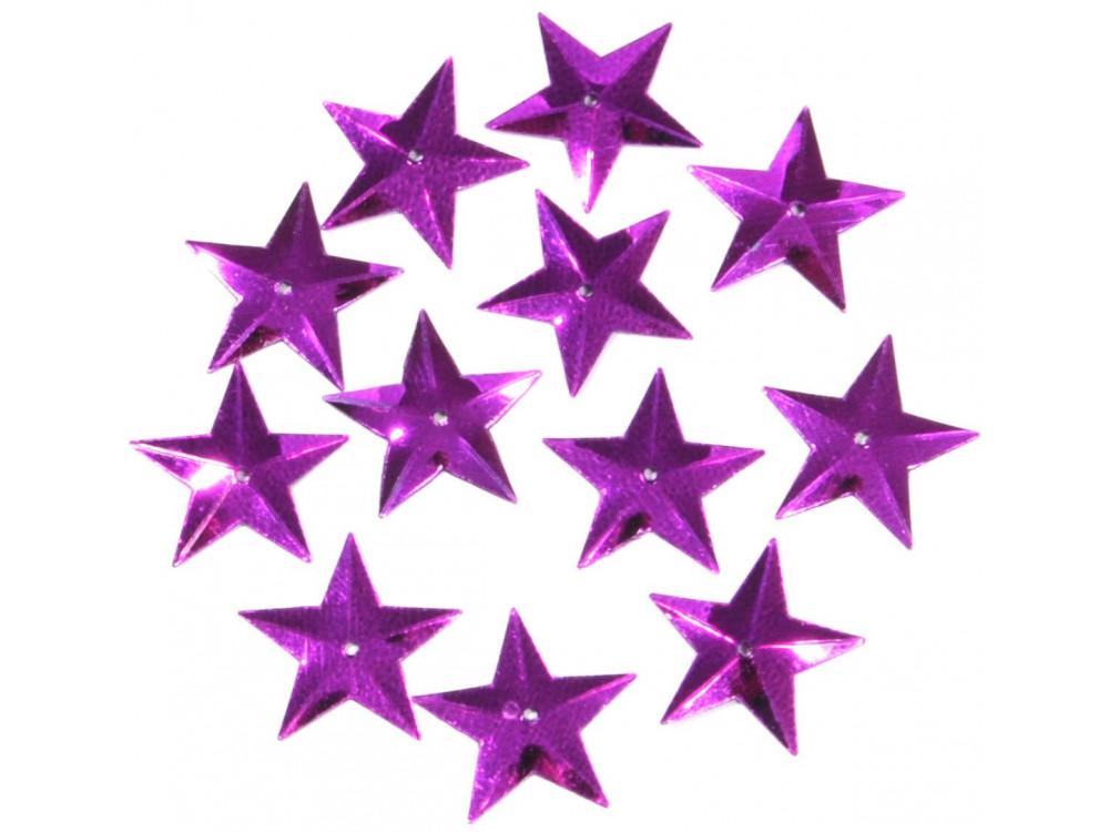 Confetti, sequins Stars - purple, 16 mm, 18 g