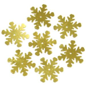 Konfetti śnieżynki złote 20 mm 18 g