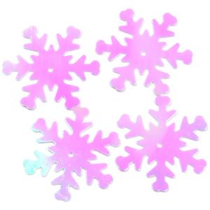 Konfetti śnieżynki holograficzne 26 mm 18 g