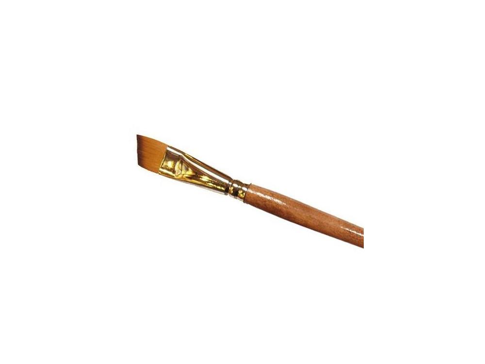 Oblique, synthetic brush - Renesans - long handle, no. 0