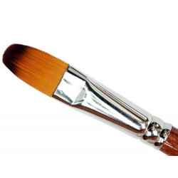 Cat's tongue, synthetic brush - Renesans - long handle, no. 8
