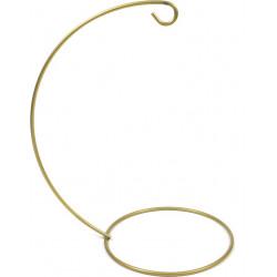 Stojak, wieszak metalowy na bombkę - złoty, 14 cm