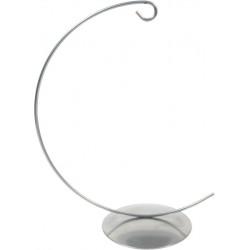 Ornament metal display stand -  silver, 14 cm x 58 mm