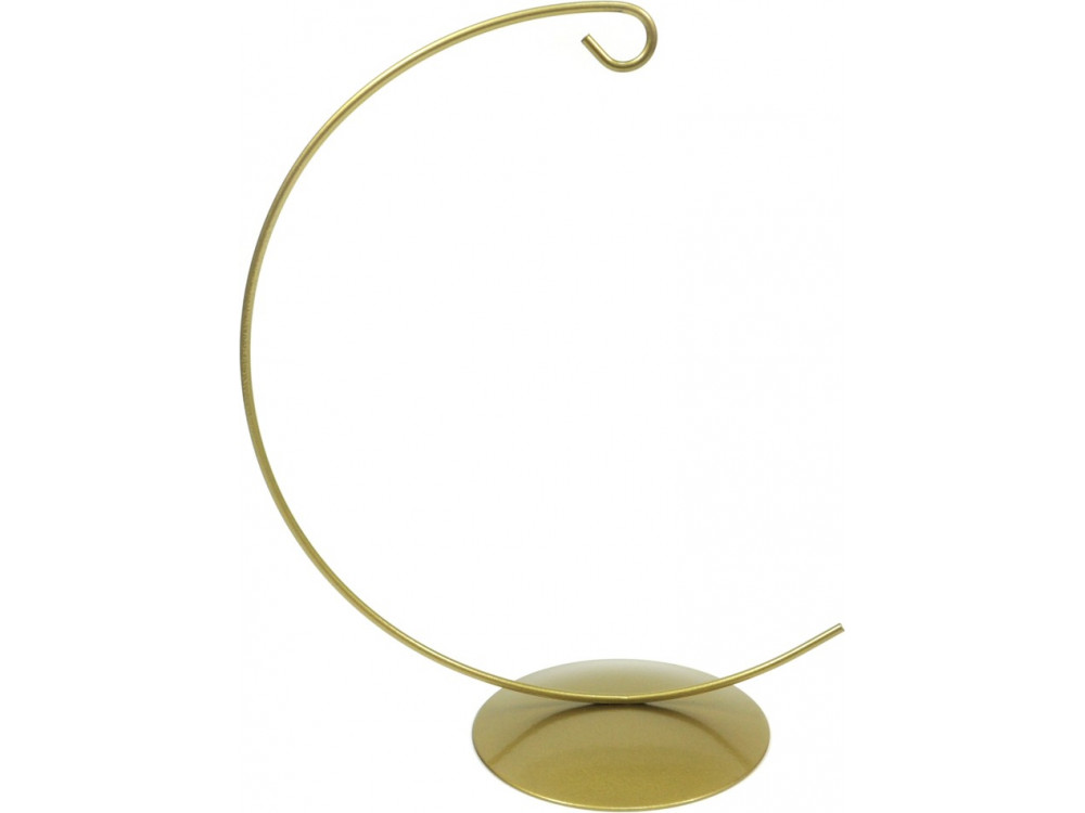 Ornament metal display stand -  gold, 14 cm x 58 mm