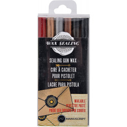 Set of sealing gun wax 2 - Manuscript - 6 pcs
