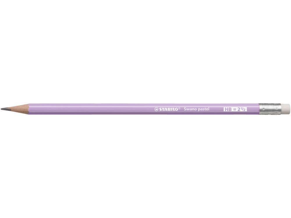 Ołówek Swano Pastel z gumką - Stabilo - liliowy, HB