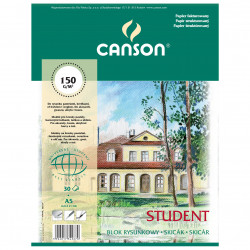 Drawing paper pad Student A5 - Canson - 160 g, 30 sheets