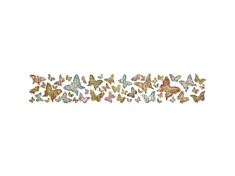 Wykrojnik Border Sizzlits - Sizzix - Butterfly Frenzy By Tim Holtz