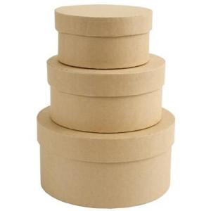 Pudełka tekturowe 3szt okrągłe Papermania