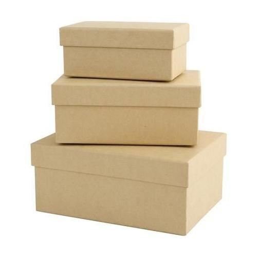Pudełka tekturowe 3 szt. prostokątne Papermania