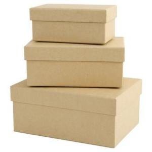 Pudełka tekturowe 3szt prostokątne Papermania