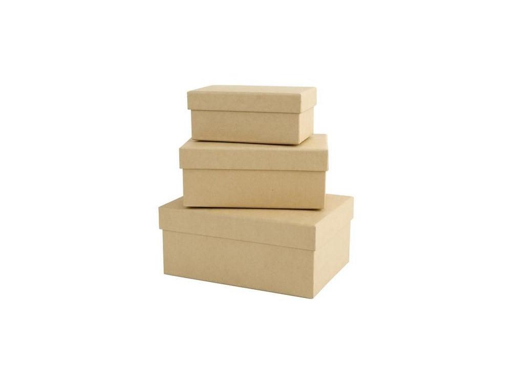 Pudełka tekturowe - Papermania - prostokąty, 3 szt.