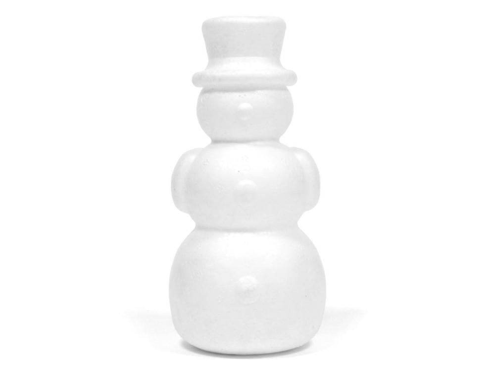 Bałwan styropianowy - 14 cm