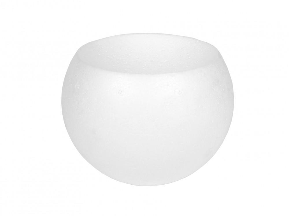Kula styropianowa - wklęsła, 10 cm