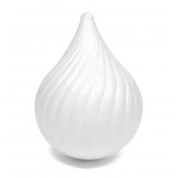 Bombka styropianowa - łza, 11 cm