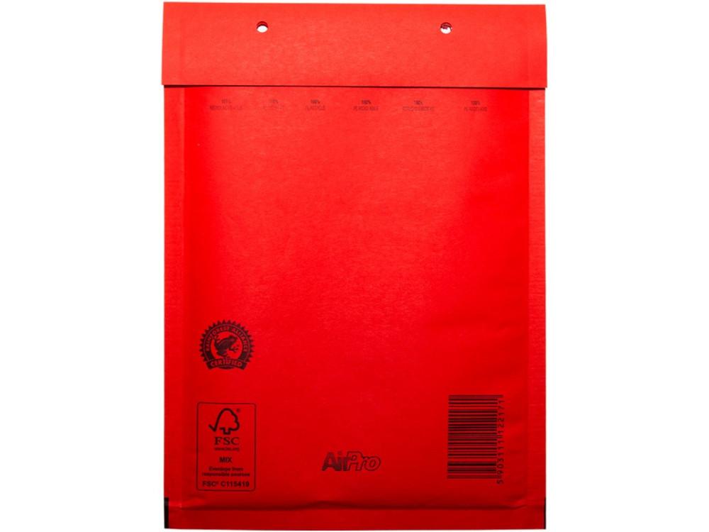 Koperty bąbelkowe - D14, czerwone, 10 szt.