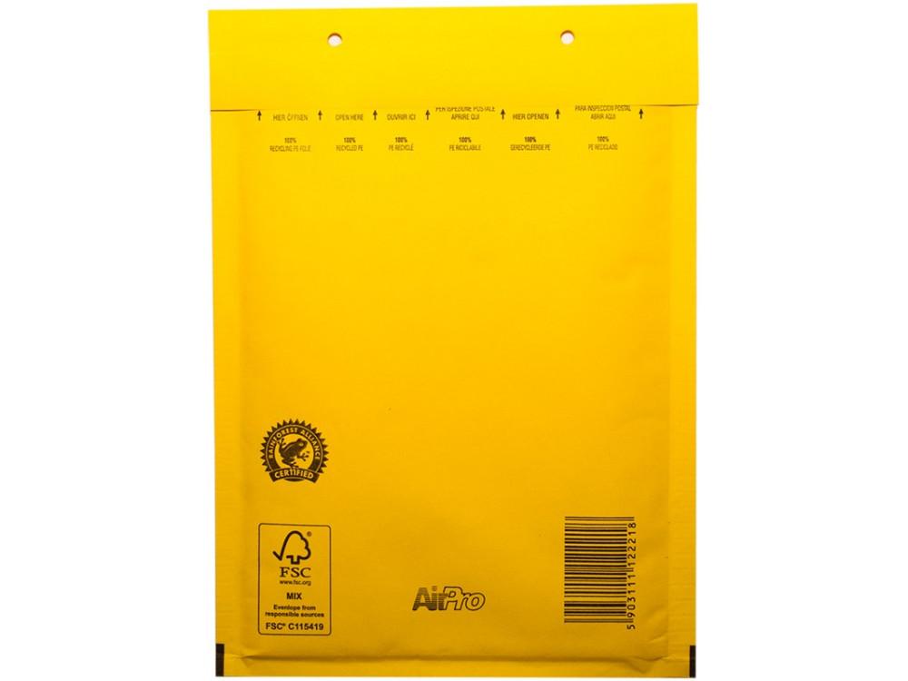 Koperty bąbelkowe - G17, żółte, 10 szt.
