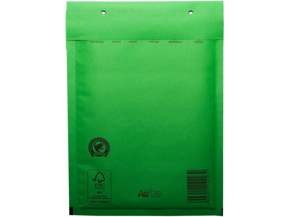 Koperty bąbelkowe - G17, zielone, 10 szt.