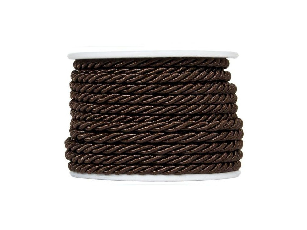 Twisted twine on a spool 10 m 3 mm DARK BROWN 77